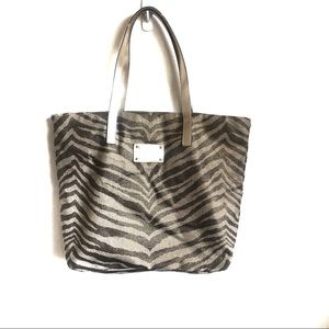 Michael Kors Animal Print Canvas Tote